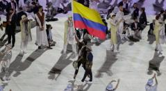 Colombia en el desfile de los Juegos Olímpicos