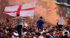 Hinchas de Inglaterra en la final de la Eurocopa