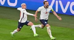 Harry Kane marcó en el triunfo de Inglaterra sobre Dinamarca
