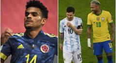 Luis Díaz, con Messi y Neymar