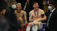 Neymar, Messi y Paredes; final Copa América