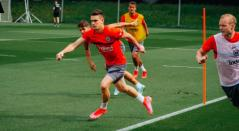 Santos Borré con el Eintracht Frankfurt