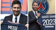 Lionel Messi y Sergio Ramos, jugadores del PSG