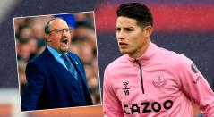 James Rodríguez hoy, Premier League noticias, Rafa Benítez, Everton