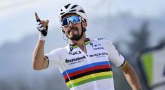 Julian Alaphilippe, bicampeón del mundo en ciclismo