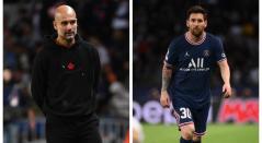 Guardiola y Messi 2021-II