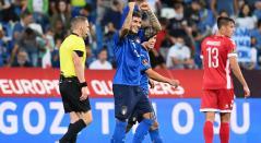 Italia goleó a Lituania en la Eliminatoria