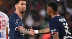 Messi y Neymar en el PSG