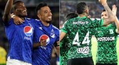 Atlético Nacional hoy, Millonarios HOY, Liga Betplay