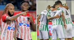 Junior y Atlético Nacional, Liga BetPlay