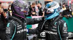Hamilton y Bottas en el Gran Premio de Turquía de F1