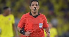 Diego Haro, árbitro de Colombia vs Ecuador