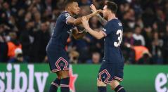Lionel Messi y Kylian Mbappé