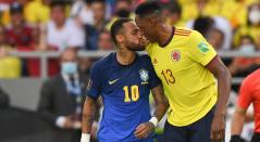 Neymar y Yerry Mina