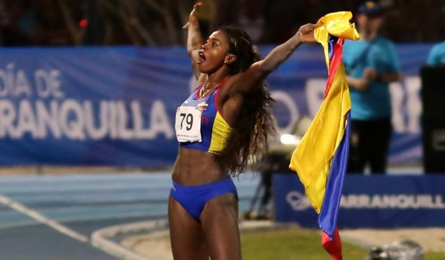 Caterine Ibargüen ganó oro para Colombia en salto de longitud