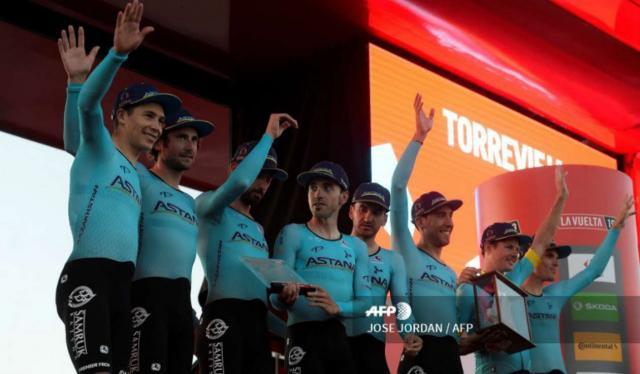 Astana ganó la primera etapa de la Vuelta a España