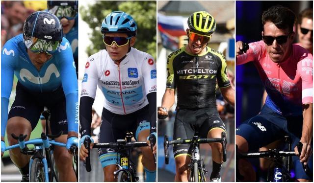 Nairo, Superman, Chaves y Rigo, ciclistas colombianos