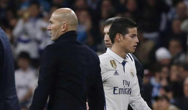Zidane y James Rodríguez