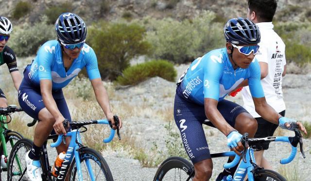 Richard Carapaz y Nairo Quintana - Movistar Team