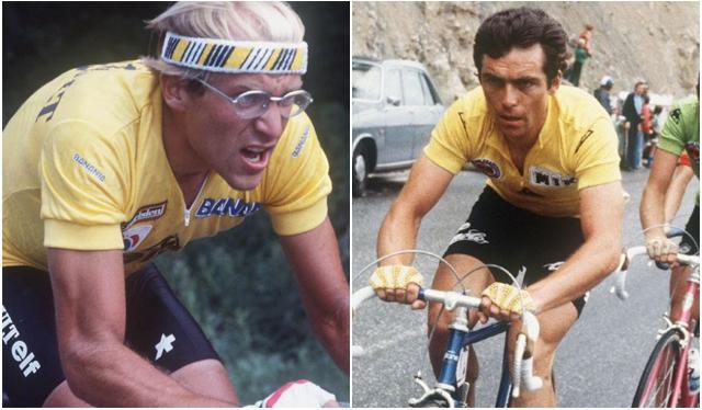Laurent Fignon yBernard Hinault corrieron el Clásico RCN