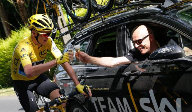 Chris Froome y Dave Brailsford, mánager del Ineos