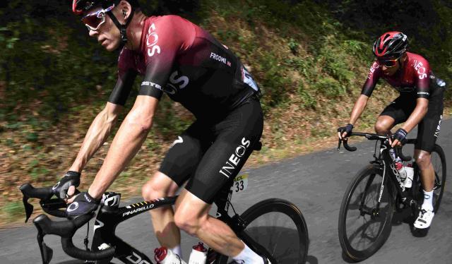 Chris Froome no pudo en la primera etapa del Critérium del Dauphiné 2020