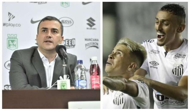 Atlético Nacional y Santos de Brasil